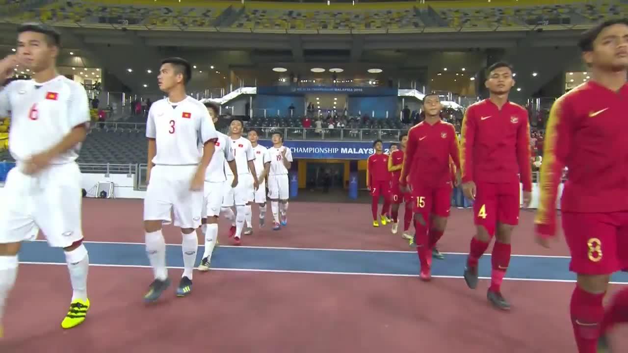 Bảng C VCK U16 châu Á 2018: U16 Việt Nam 1-1 U16 Indonesia