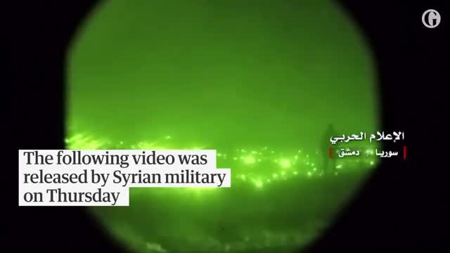 Phòng không Syria đánh trả quyết liệt một trận không kích của Không quân Israel