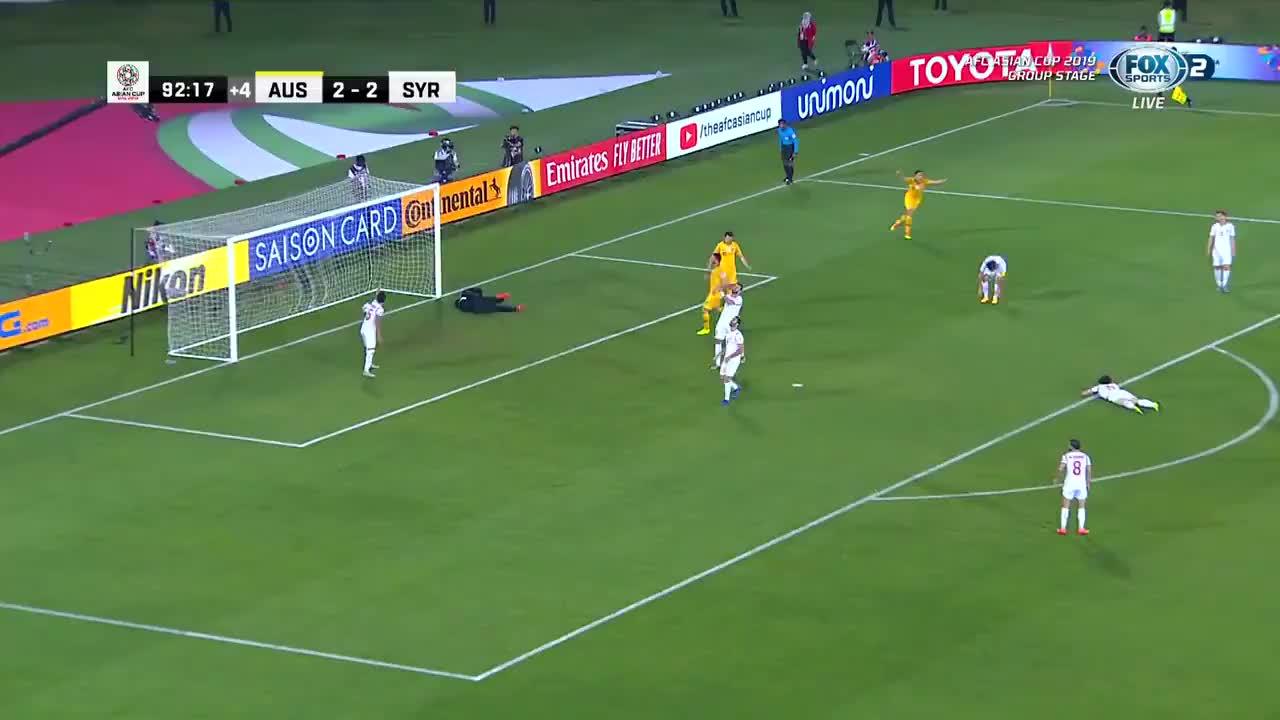 Australia ghi bàn thứ 3 vào lưới Syria (nguồn: FOX)