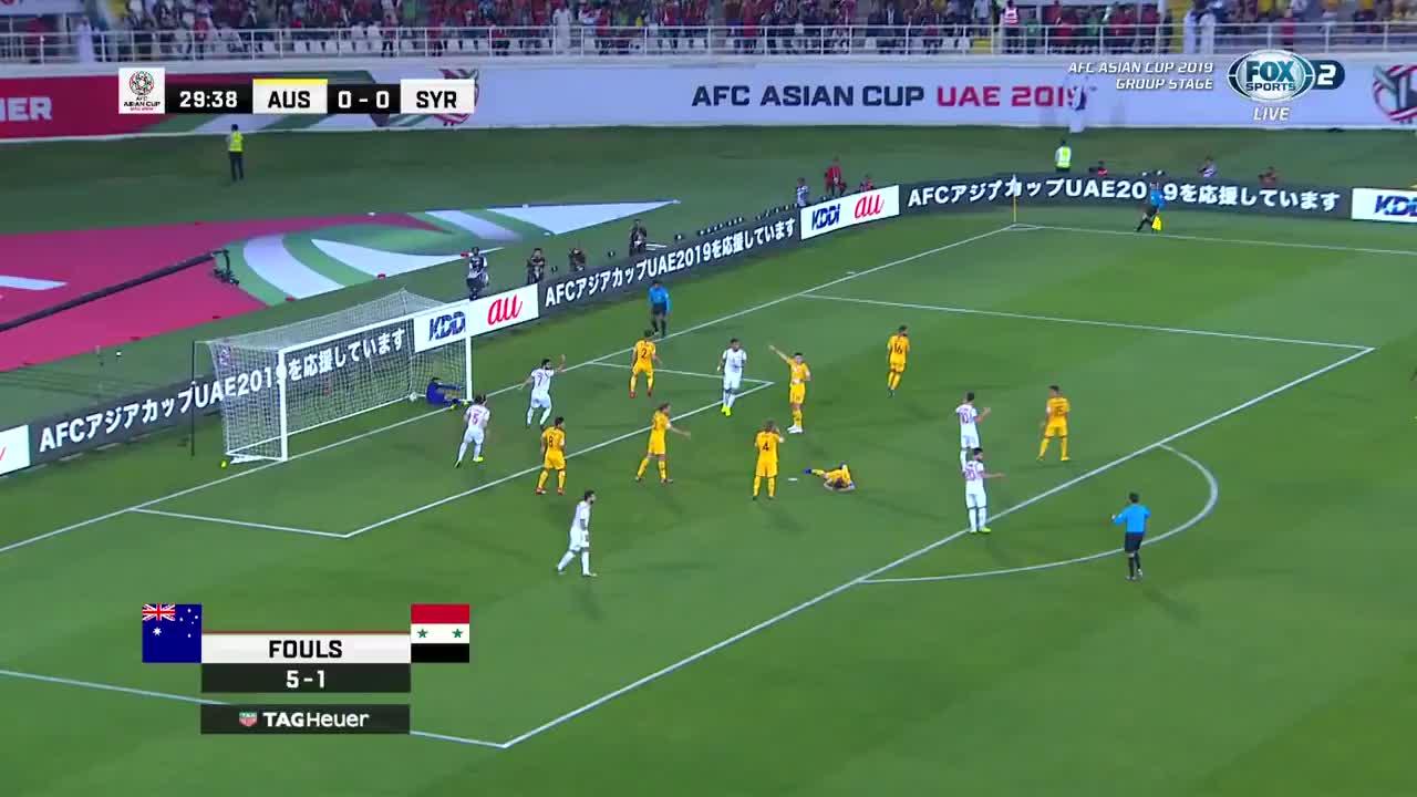 Australia suýt nhận bàn thua bất ngờ (nguồn: FOX)