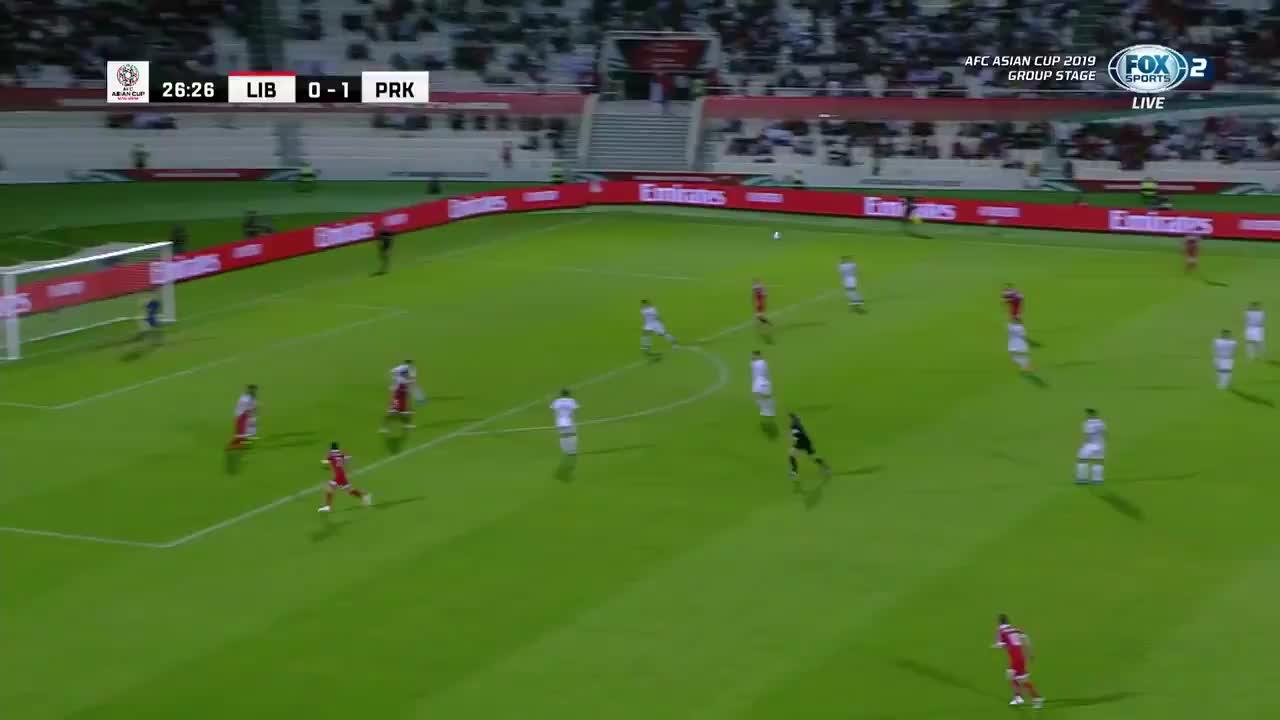 VCK Asian Cup 2019 - Lebanon ghi bàn gỡ hòa 1-1 trước Triều Tiên