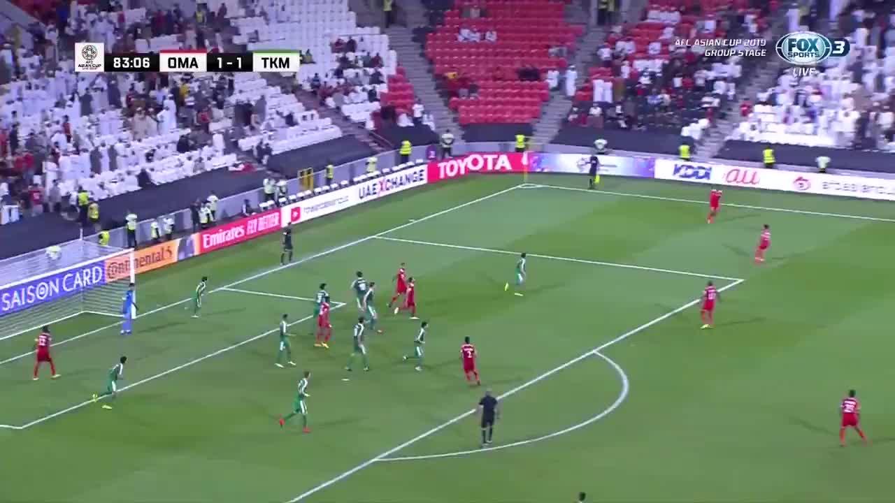 VCK Asian Cup 2019 - Oman ghi bàn thắng thứ 2 vào lưới Turkmenistan