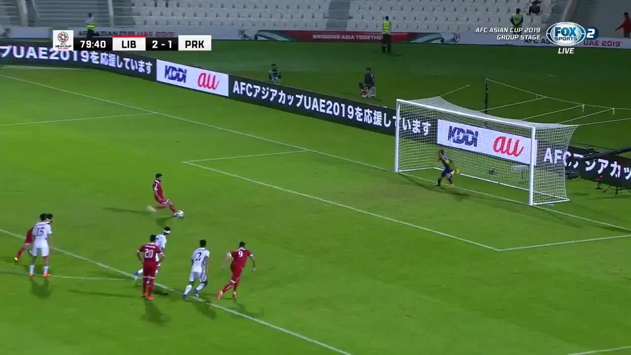 VCK Asian Cup 2019: Lebanon ghi bàn thắng nâng tỷ số lên 3-1 trước Triều Tiên