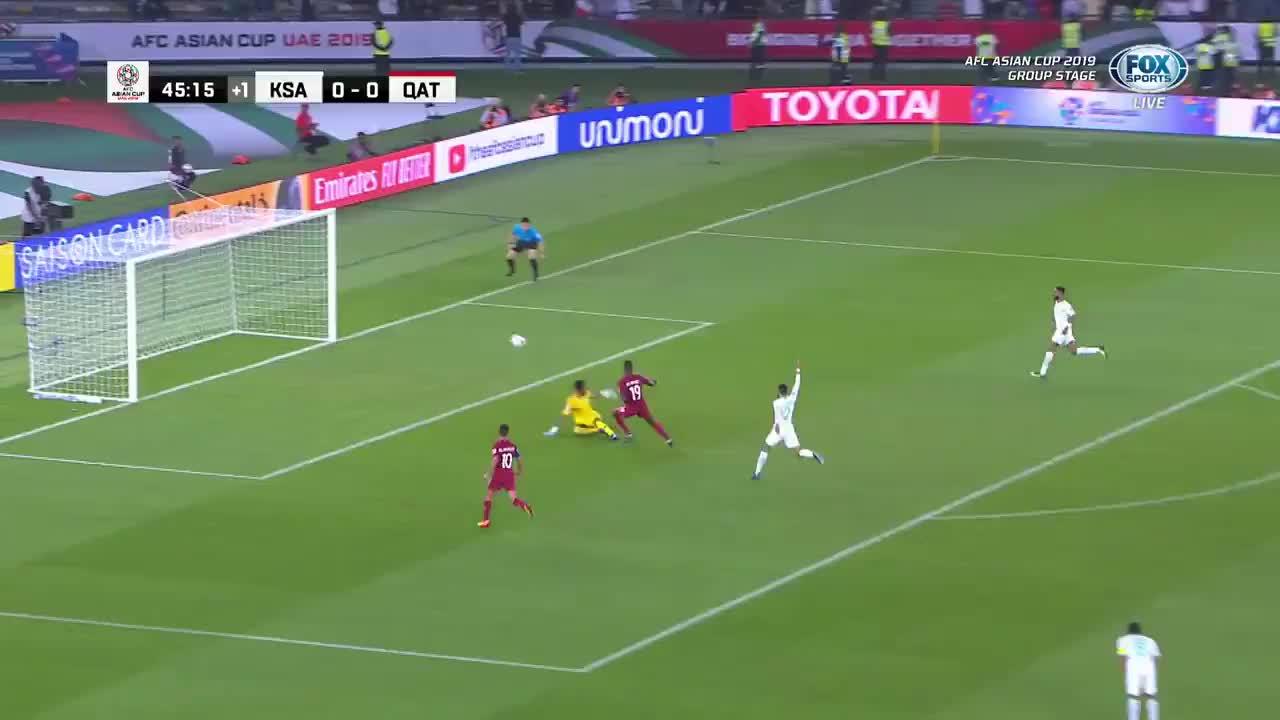 VCK Asian Cup 2019: Qatar mở tỷ số vào lưới Saudi Arabia