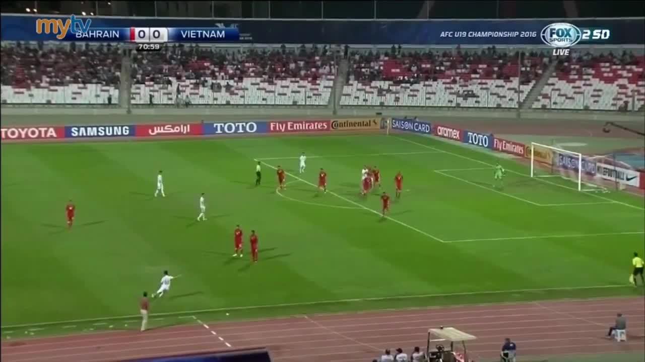 Bàn thắng của Trần Thành vào lưới U19 Bahrain, lấy chiếc vé dự World Cup U20 cho Việt Nam