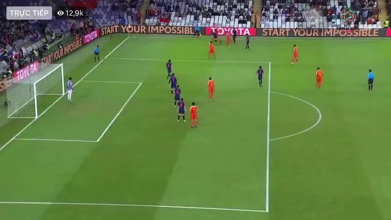 Vòng 1/8 Asian Cup 2019: Trung Quốc ghi bàn gỡ hòa 1-1 trước Thái Lan (67')