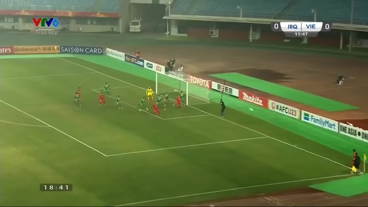 Tứ kết U23 châu Á 2018: Việt Nam 3-3 Iraq (chung cuộc 5-3)