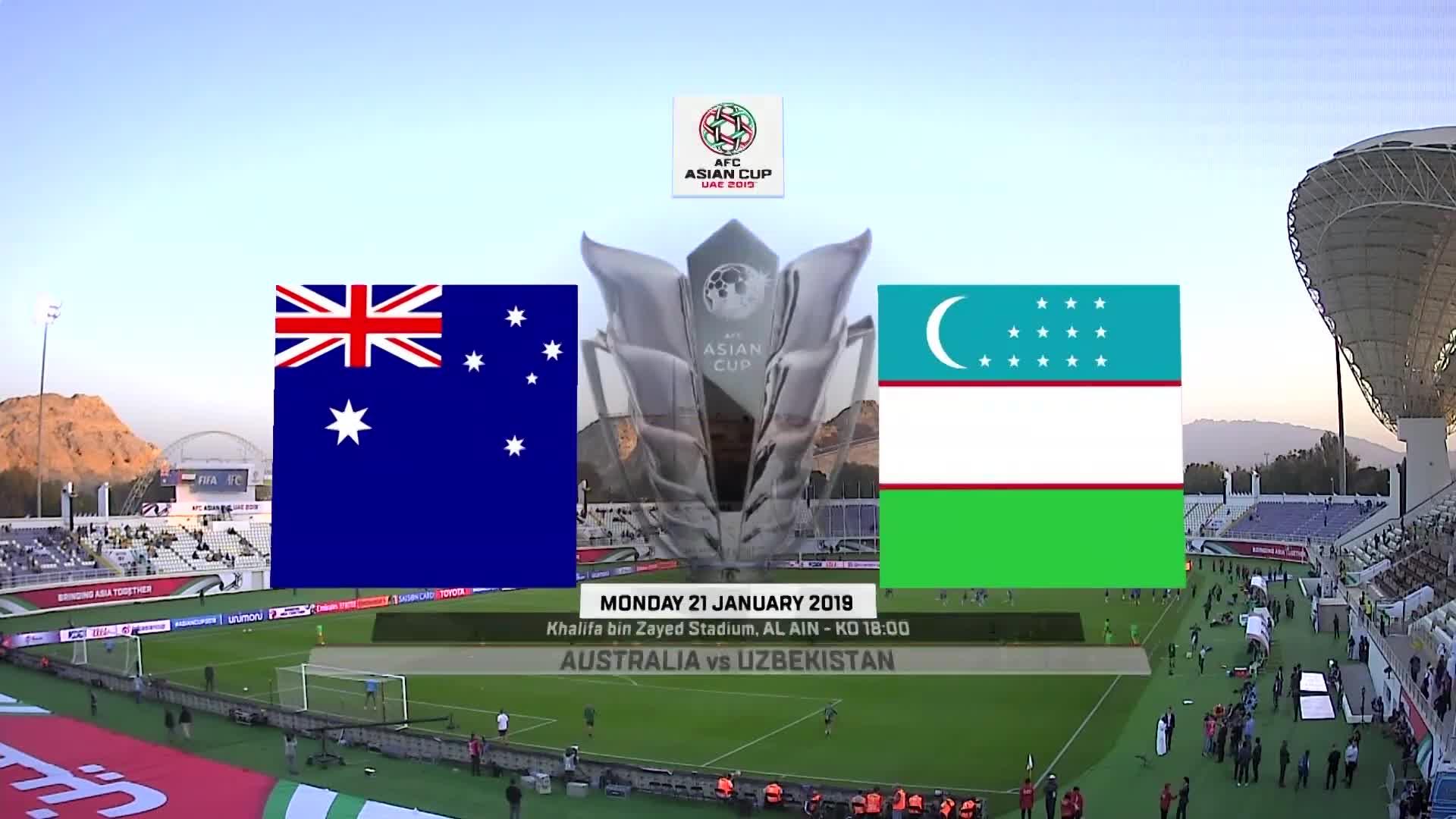 Vòng 1/8 Asian Cup 2019: Australia 0-0 Uzbekistan (luân lưu 4-2) (nguồn: AFC)