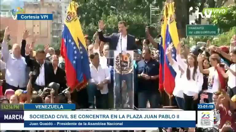 Ông Juan Guaidó tuyên bố trở thành Tổng thống lâm thời của Venezuela.