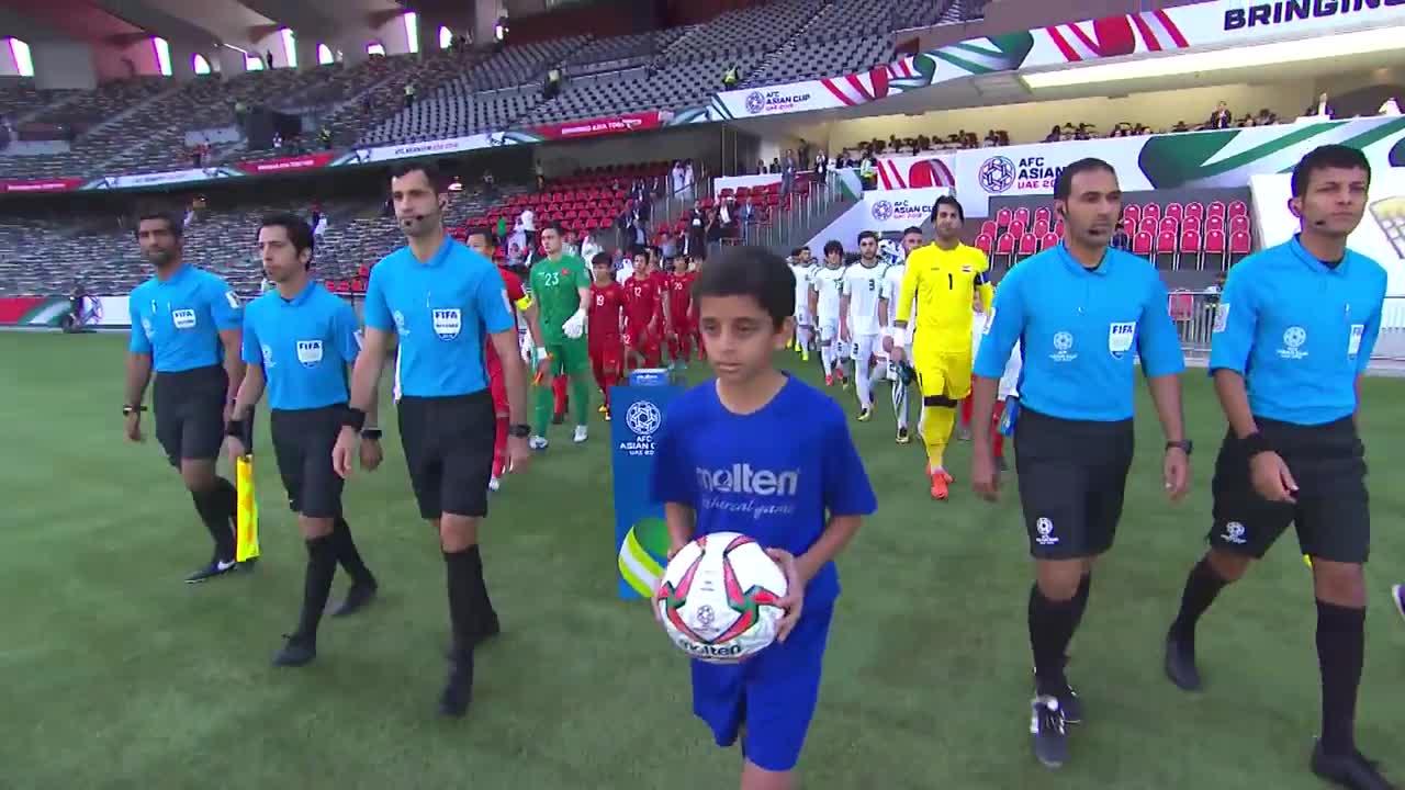 Bảng D Asian Cup 2019: Việt Nam 2-3 Iraq (nguồn: AFC)