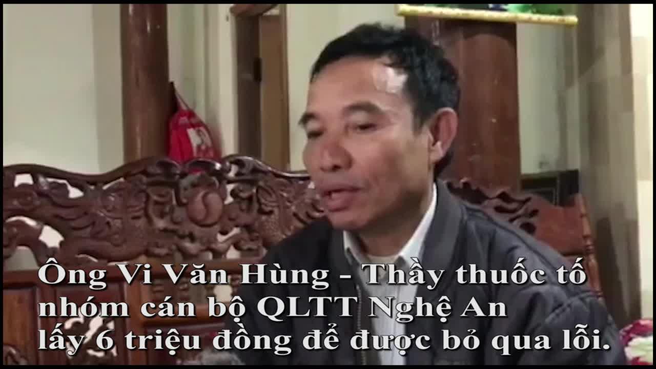 Video thầy Vi Văn Hùng chia sẻ sự việc tố nhóm 3 cán bộ QLTT lấy 6 triệu đồng.