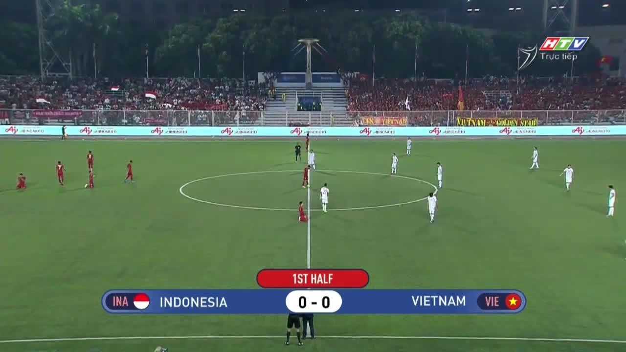 Chung kết bóng đá nam SEA Games 30: U22 Việt Nam 3-0 U22 Indonesia (nguồn: HTV)