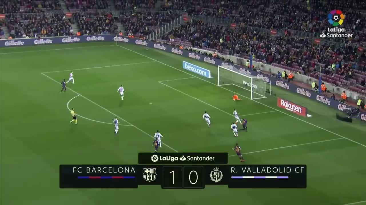Vòng 24 La Liga 2018/19: Barca 1-0 Real Valladolid