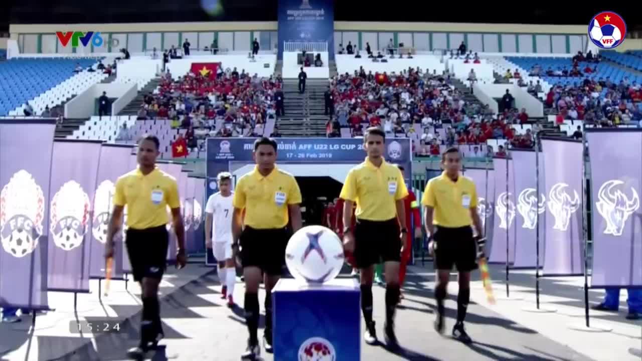 Bảng A, U22 ĐNÁ 2019: Việt Nam 2-1 Philippines