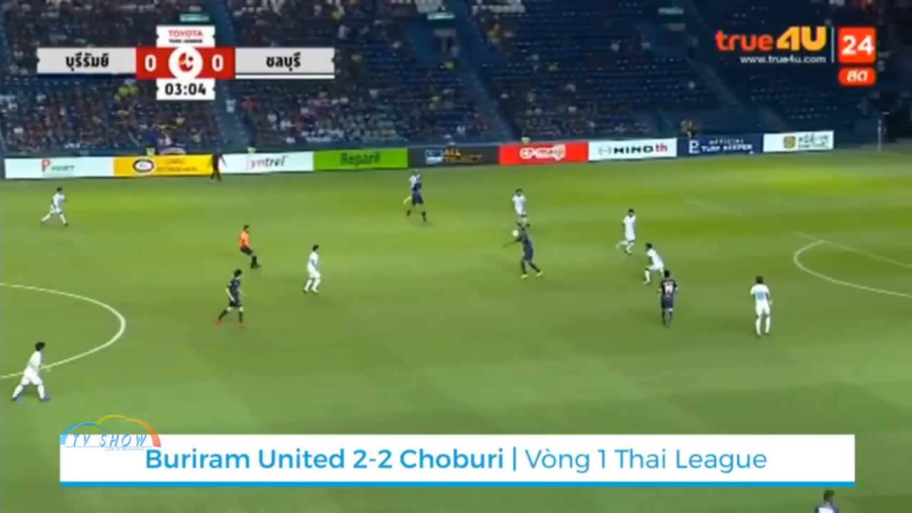 Vòng 1 Thai League 2019: Buriram 2-2 Chonburi
