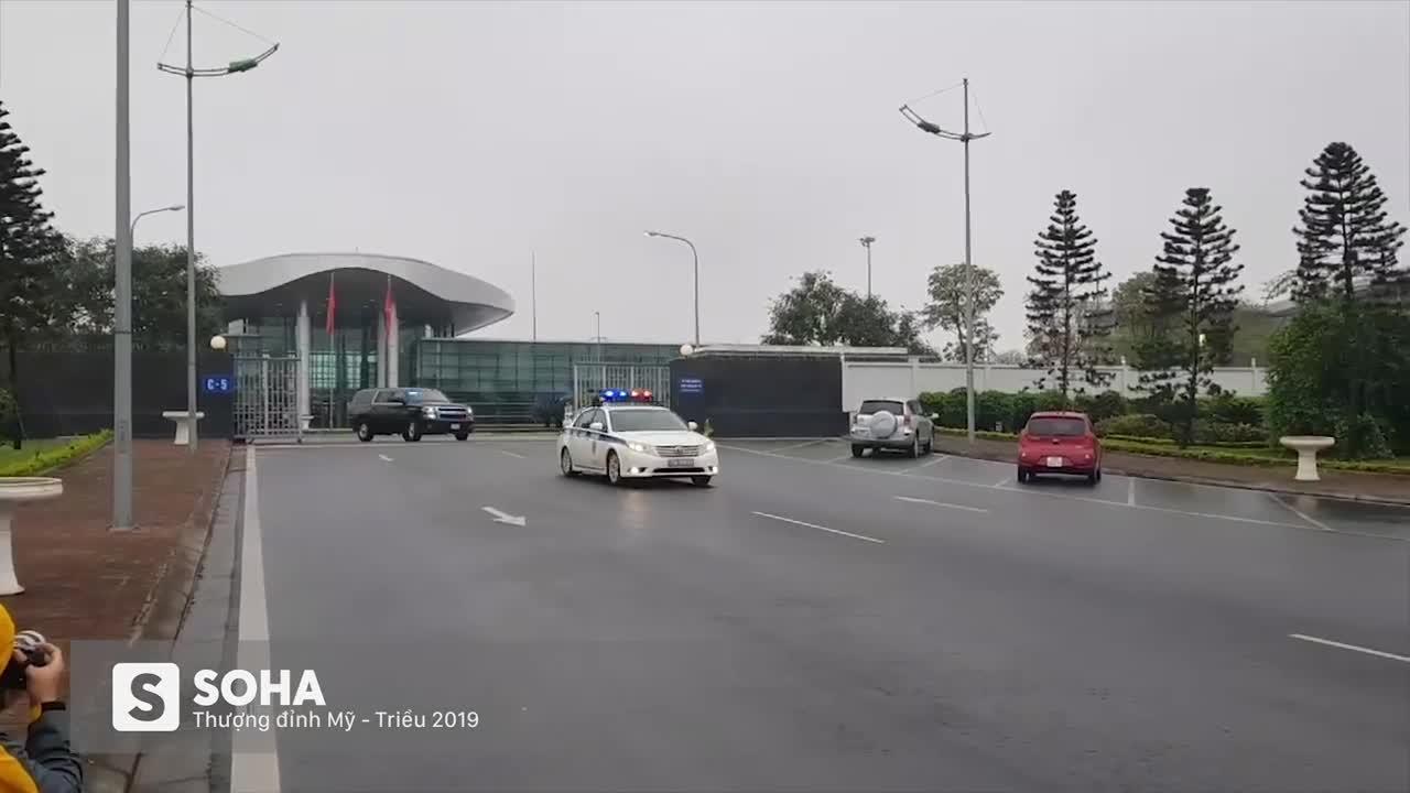 Đoàn xe Cadillac One The Beast rời sân bay Nội Bài ngày 23/2/2019