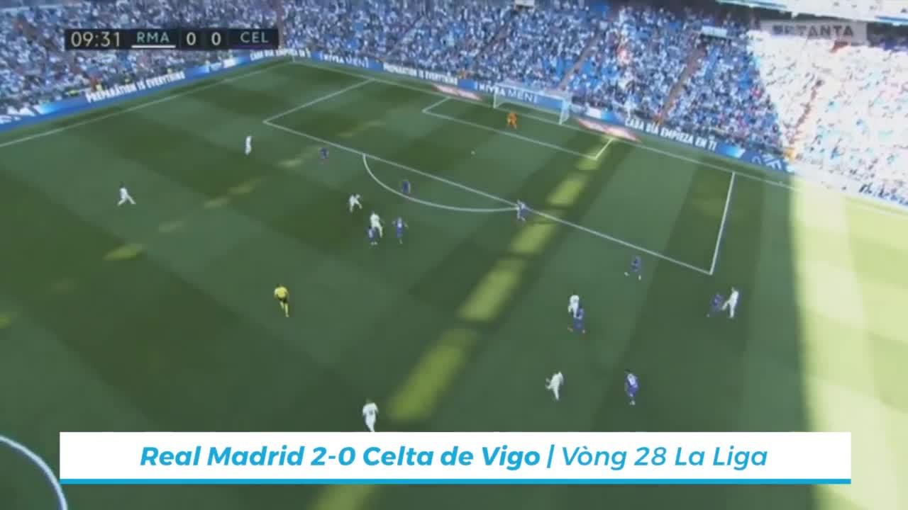 Vòng 28 La Liga 2018/19: Real 2-0 Celta Vigo