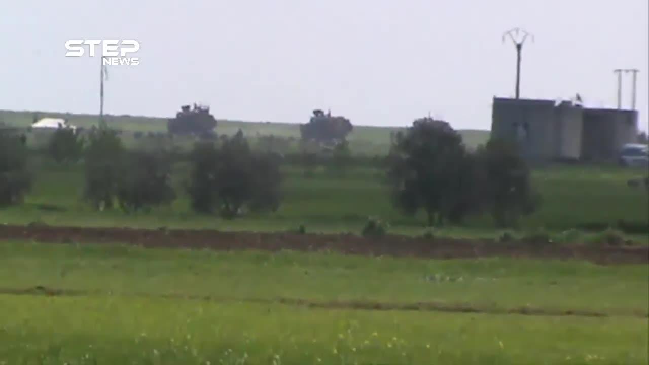 Quân đội Thổ Nhĩ Kỳ tuần tra tại khu phi quân sự Tây Bắc Syria cùng với lực lượng khủng bố HTS hôm 19/3