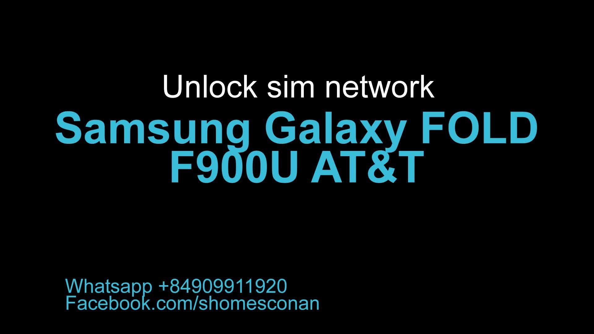 unlock samsung galaxy fold f900u at&t