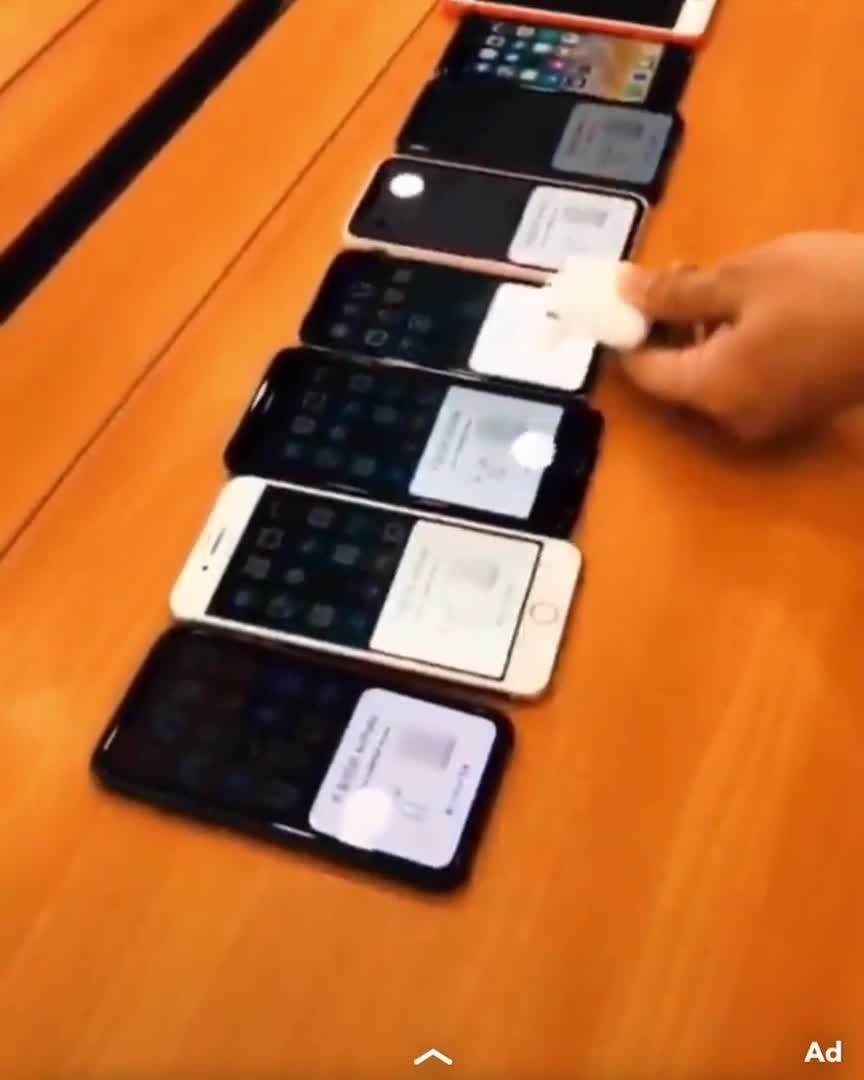 AirPods thử nghiệm kết nối cả hàng iPhone cùng lúc mượt như nhung