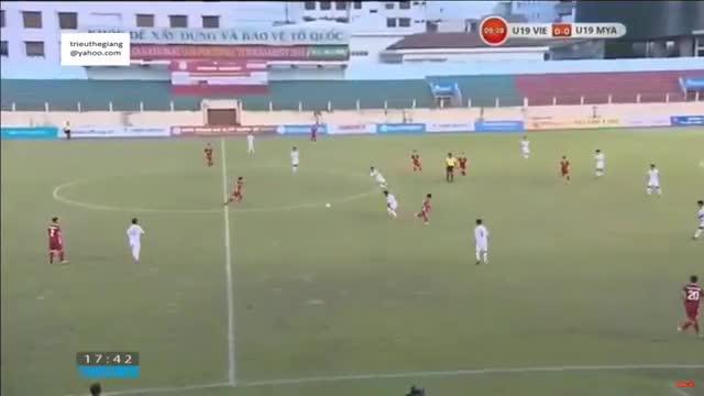 Giải U19 quốc tế 2019: U19 Việt Nam 2-1 U19 Myanmar