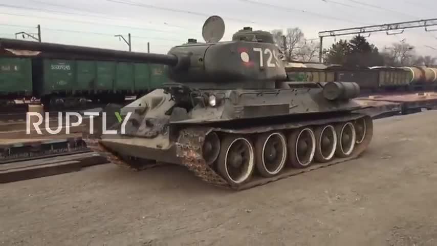 Quân đội Nga tiếp nhận lại các xe tăng hạng trung T-34-85 từ Quân đội nhân dân Lào