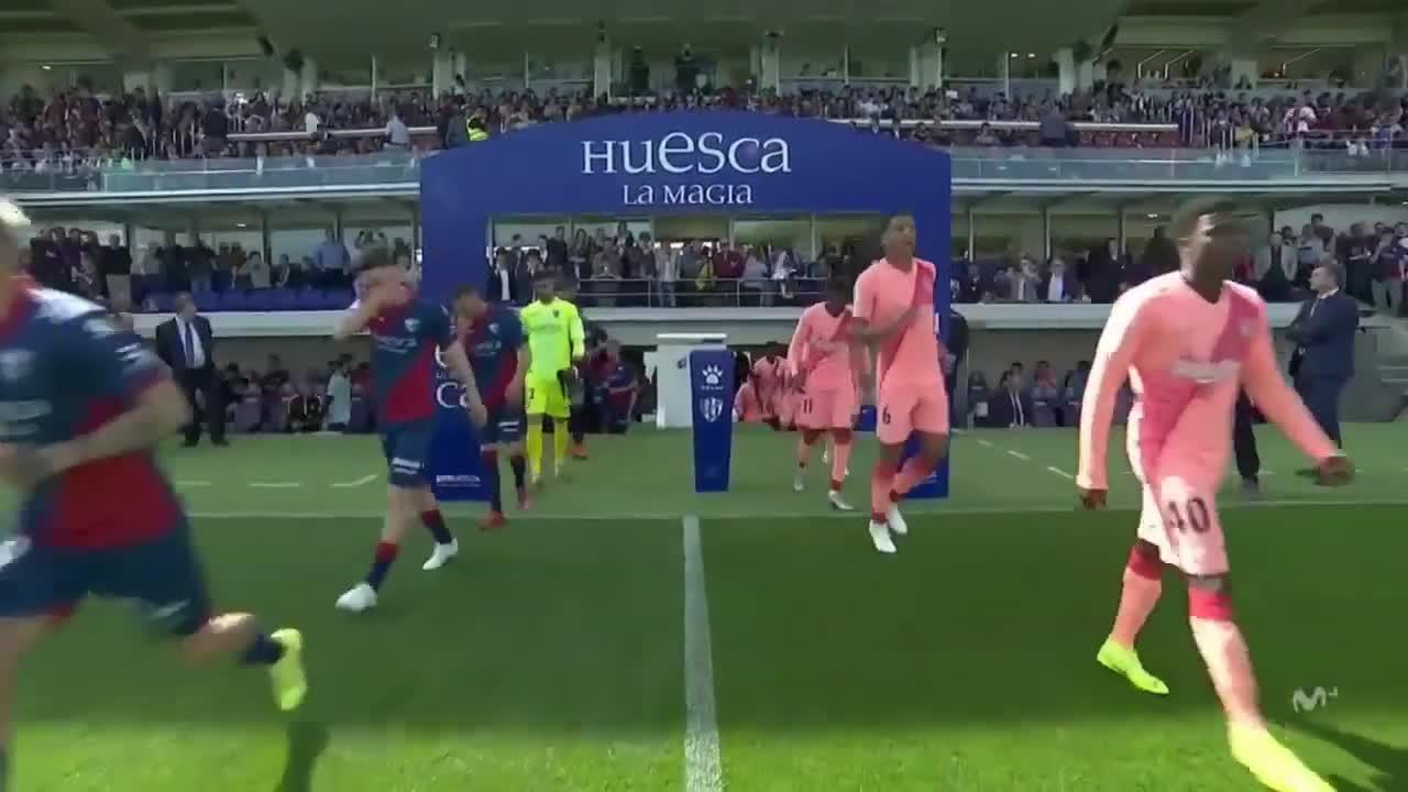 Vòng 31 La Liga 2018/19: Huesca 0-0 Barcelona