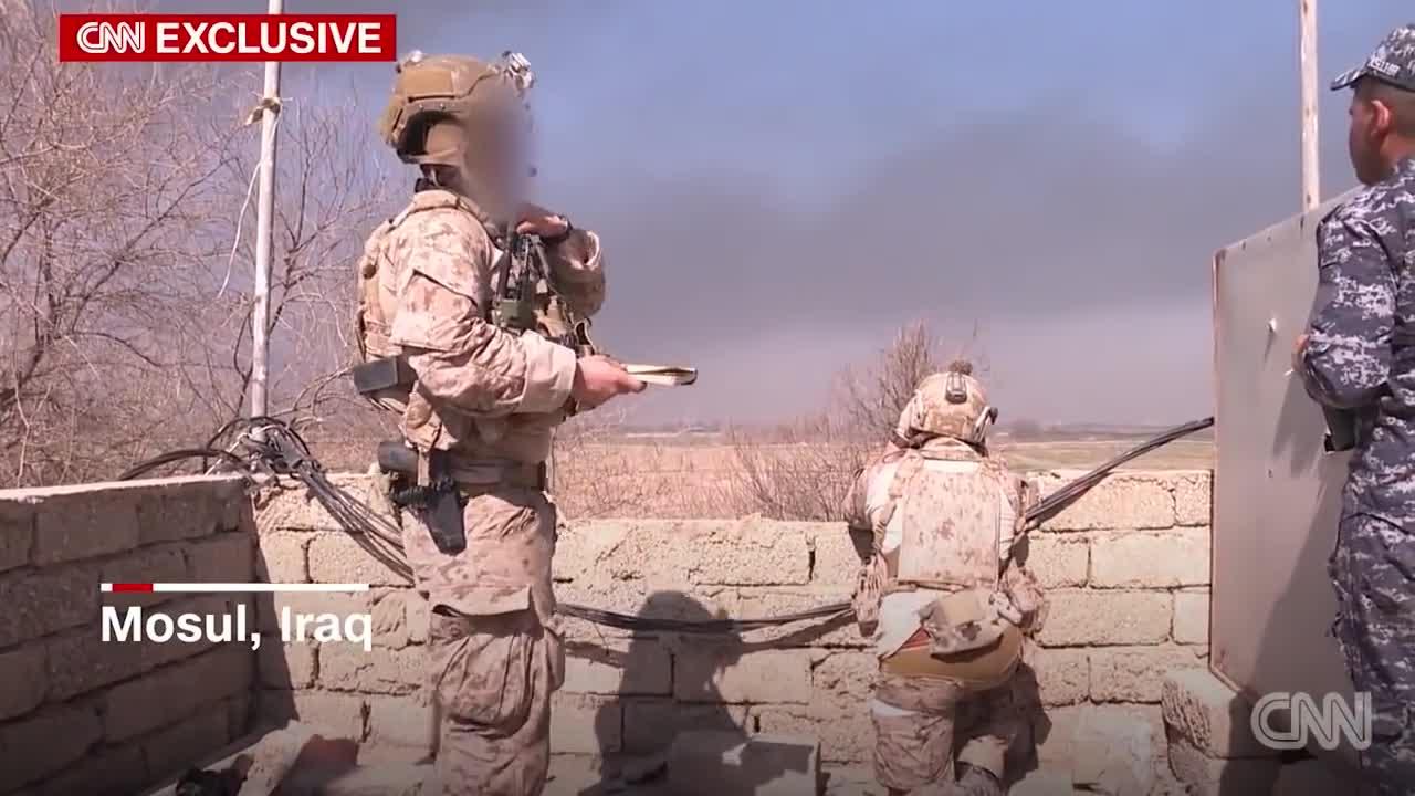 Lực lượng đặc biệt Hoa Kỳ hỗ trợ Iraq trong trận đánh tại Mosul năm 2017 (Nguồn CNN)