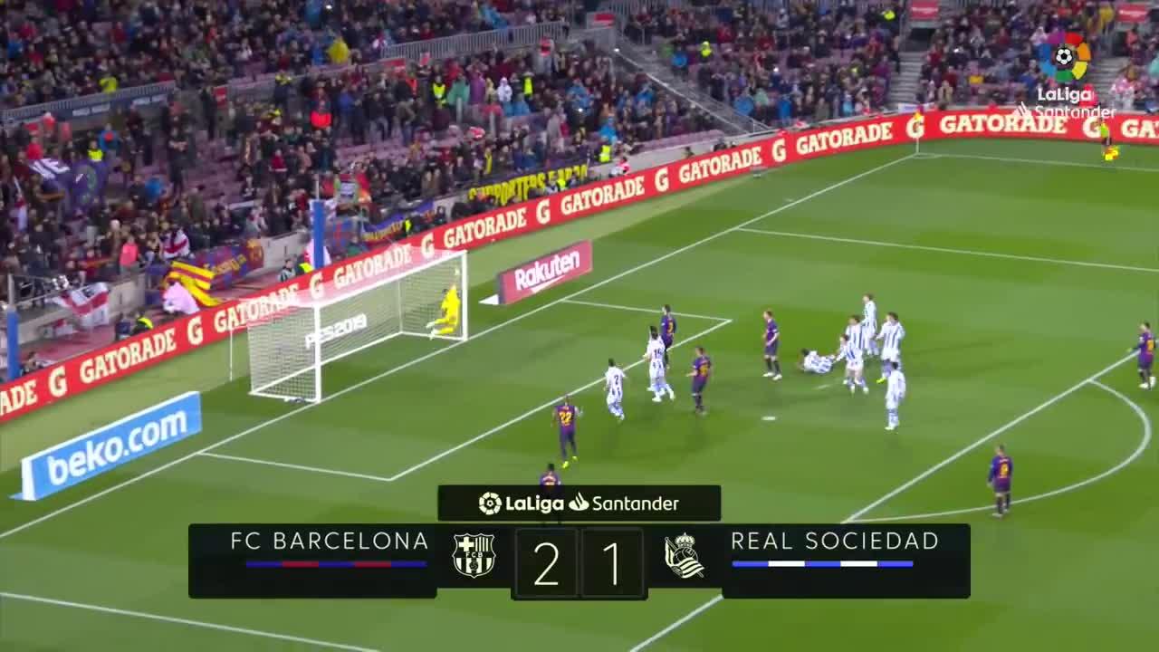 Vòng 33 La Liga 2018/19: Barcelona 2-1 Real Sociedad