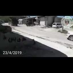 Cảnh quay hôm 23/4 ghi lại binh lính Thổ Nhĩ Kỳ tuần tra khu vực DMZ thuộc tỉnh Idlib cùng với các chiến binh khủng bố HTS.