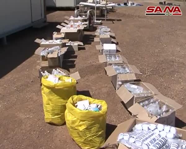 Kho vũ khí hiện đại vừa được Quân đội Syria phát hiện ngày 24/4