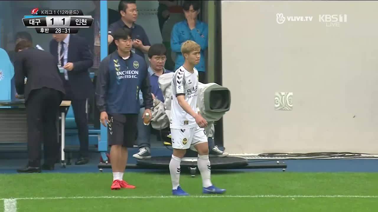 Màn trình diễn của Công Phượng trong trận đấu với Daegu FC