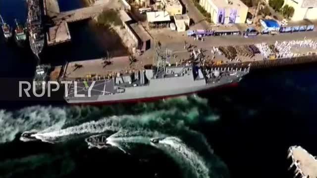 Iran đã bổ sung một khu trục hạm Sahand thứ ba vào hạm đội hải quân trong một buổi lễ tại thành phố cảng phía nam Bandar Abbas cuối năm 2018.