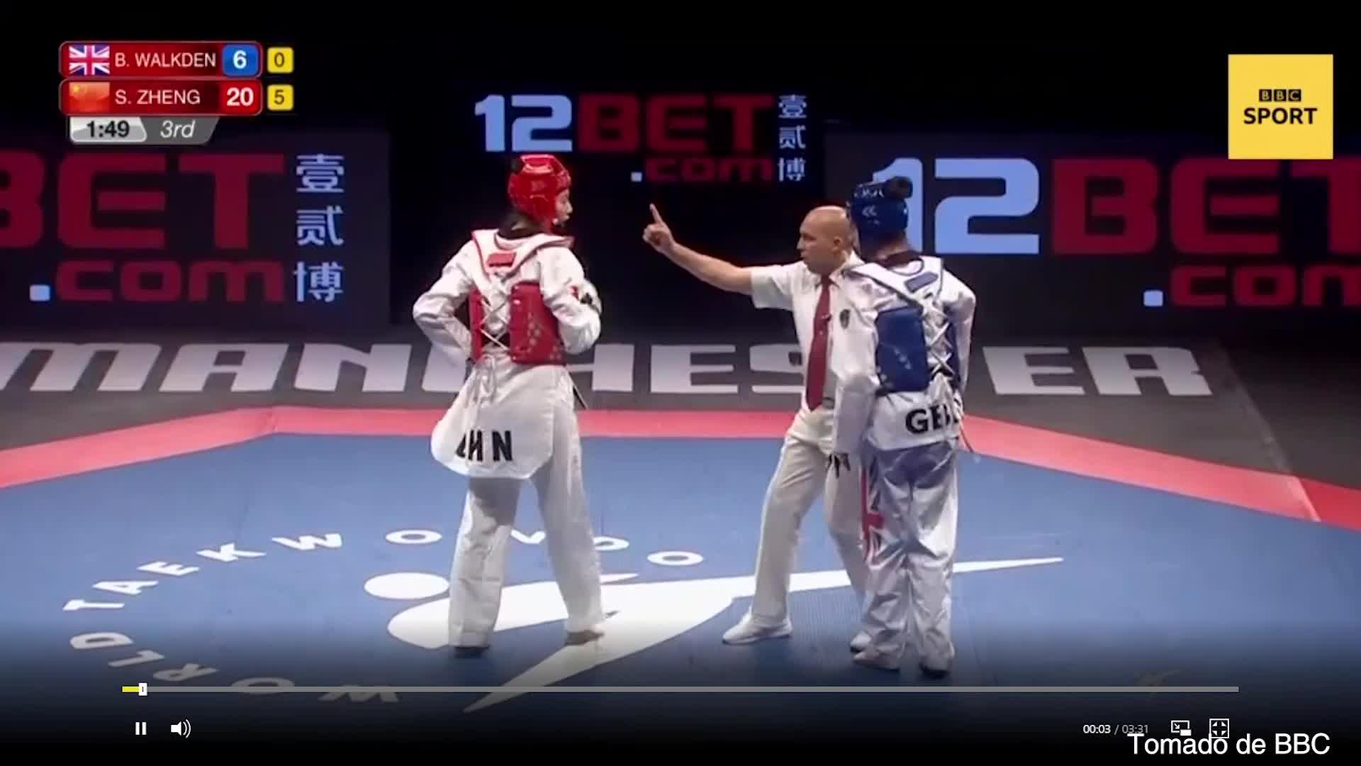 Chung kết giải vô địch Taekwondo thế giới 2019: Trịnh Xu Âm vs Walkden