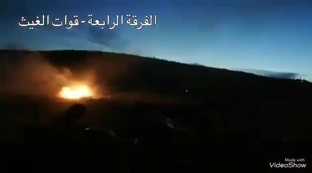 Sư đoàn 4 Vệ binh Cộng hòa Syria được cho là có mối quan hệ tốt với IRGC. Tên lửa tự chế Golan-1000 của đơn vị (hỗ trợ trực tiếp của Iran) đã khai hỏa vào vị trí phiến quân tại Latakia ngày 11/5.