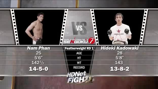 Một trận đấu của Nam Phan vs võ sĩ Nhật Bản Hideki Kadowaki