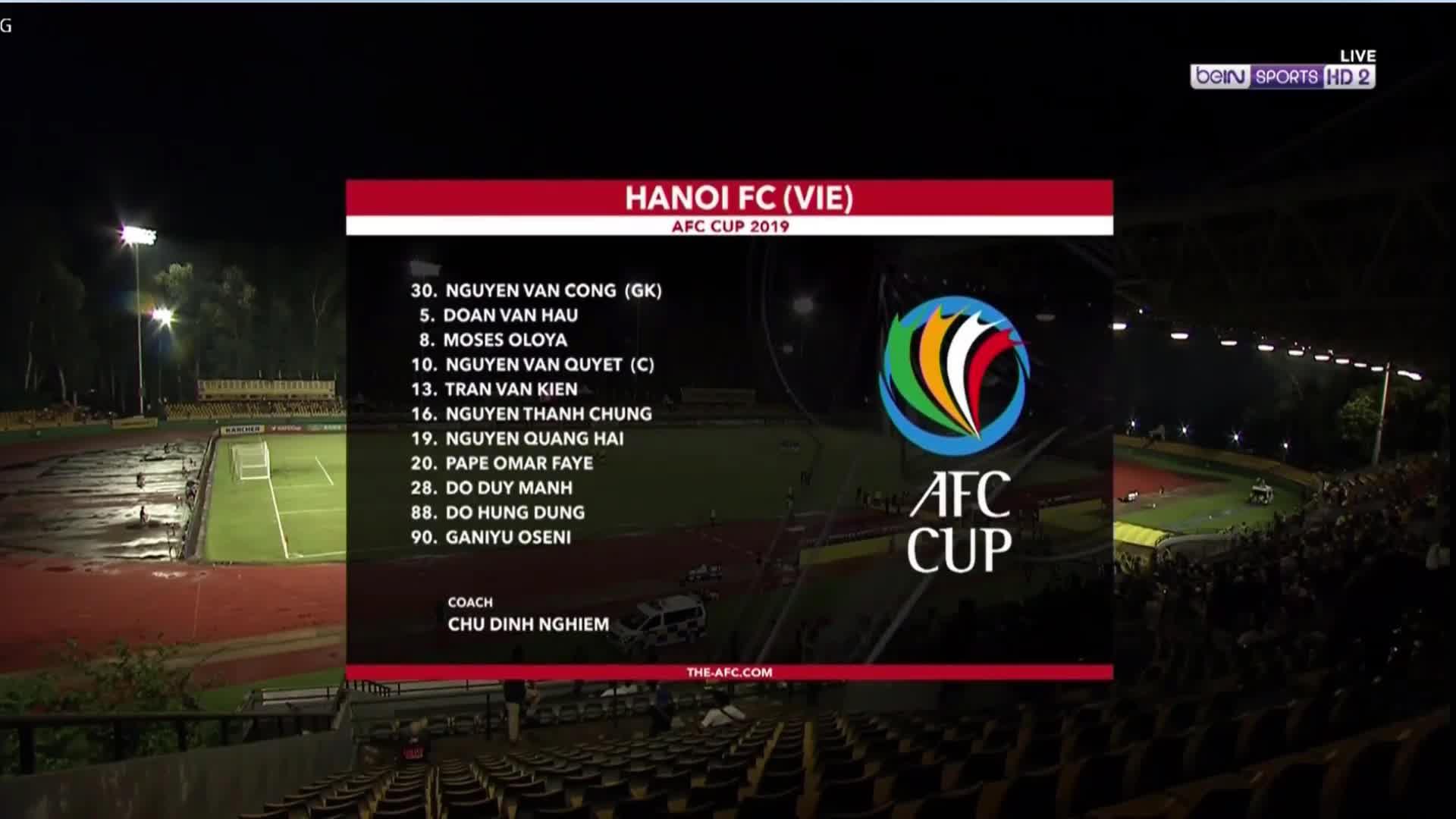 Bán kết lượt đi AFC Cup 2019 khu vực Đông Nam Á: Ceres Negros 1-1 CLB Hà Nội