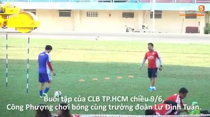 """Công Phượng chơi bóng cùng """"Maradona Việt Nam"""""""