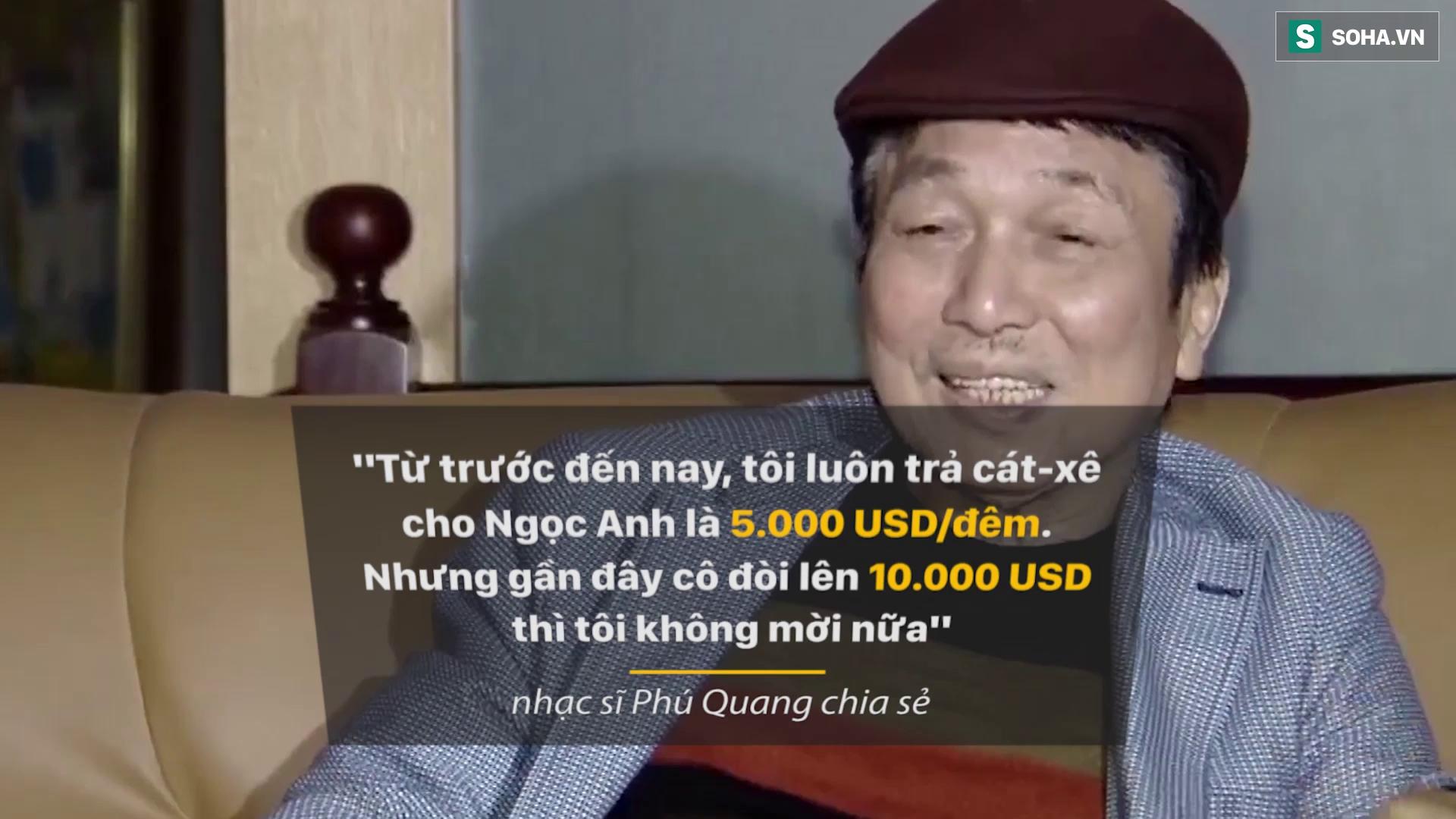 """Phú Quang """"tố"""" Ngọc Anh đòi hơn 200 triệu đồng tiền cát-xê: Hàng loạt sao Việt lên tiếng."""