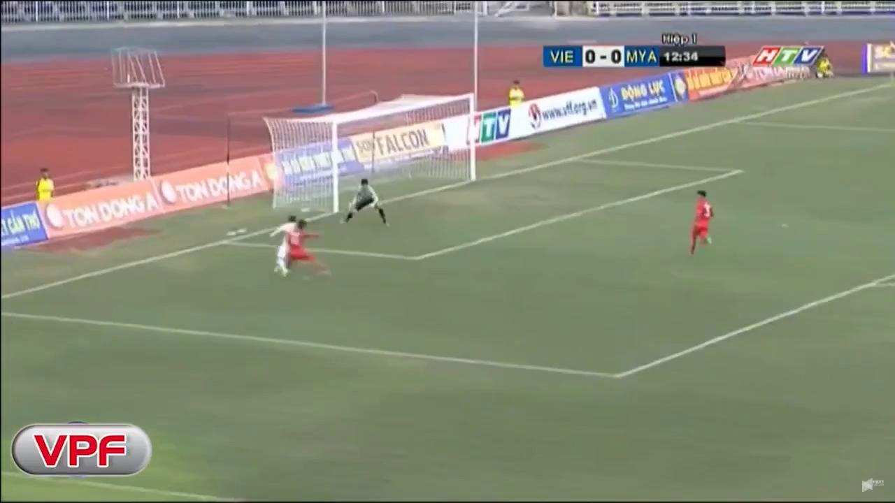 U21 Quốc tế 2017: U19 Việt Nam 1-1 U21 Myanmar