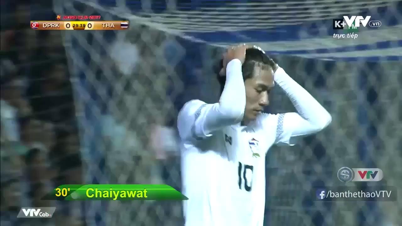 Cúp M-150: U23 Thái Lan 0-1 U23 Triều Tiên