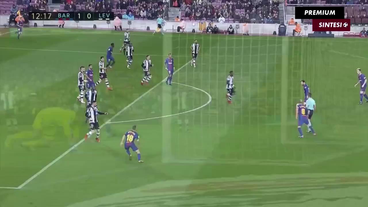 Vòng 18 La Liga: Barca 3-0 Levante