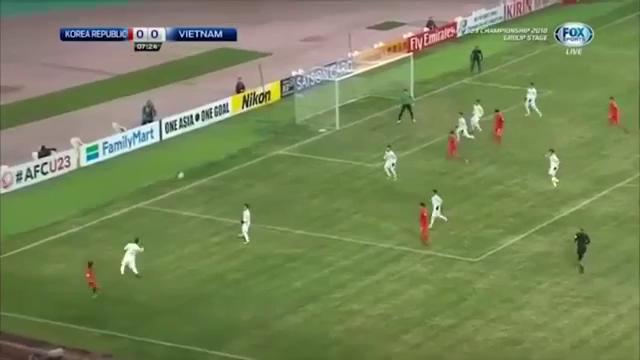 VCK U23 châu Á: U23 Việt Nam 1-2 U23 Hàn Quốc