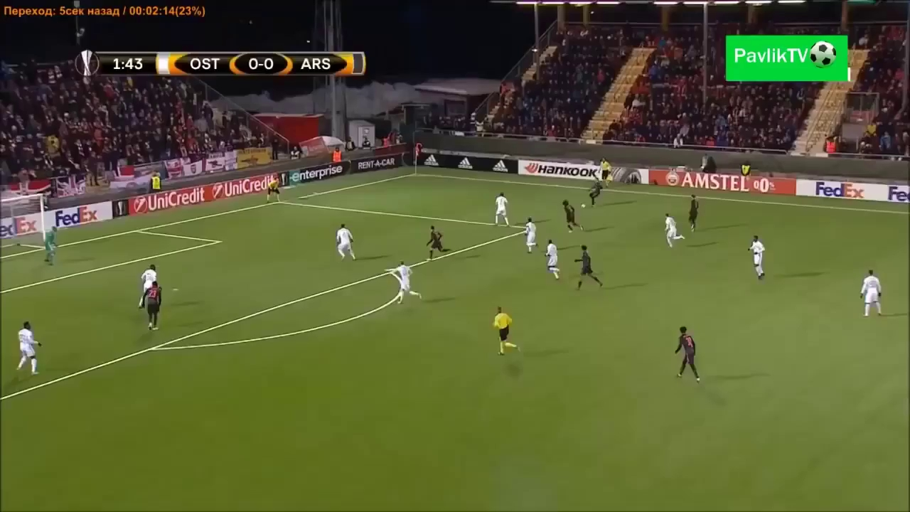Vòng 1/16 Europa League: Ostersunds 0-3 Arsenal