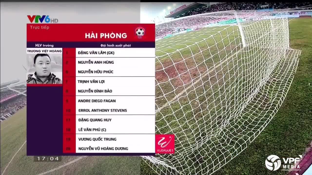 Vòng 2 V.League 2018: Hải Phòng 1-1 HAGL