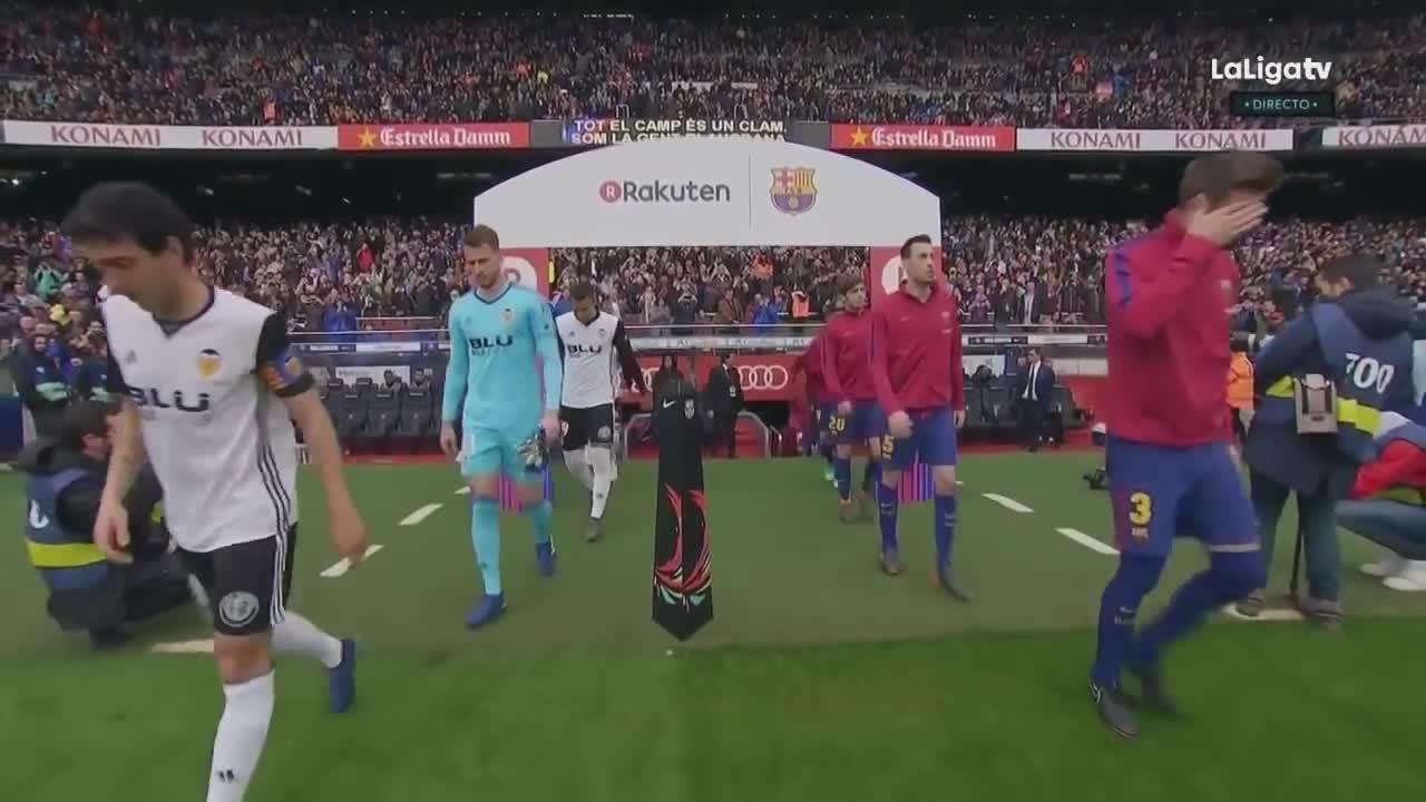 Vòng 32 La Liga: Barca 2-1 Valencia
