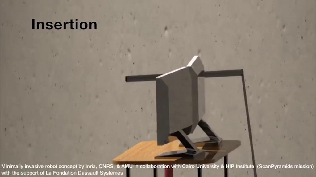 Mô phỏng hoạt động của robot thăm dò trong Đại kim tự tháp Giza