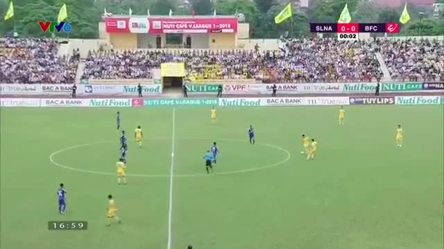 Vòng 6 V.League 2018: SLNA 0-0 Bình Dương