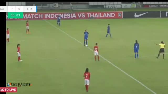 Giao hữu: ĐT nữ Indoneisa 0-13 Thái Lan