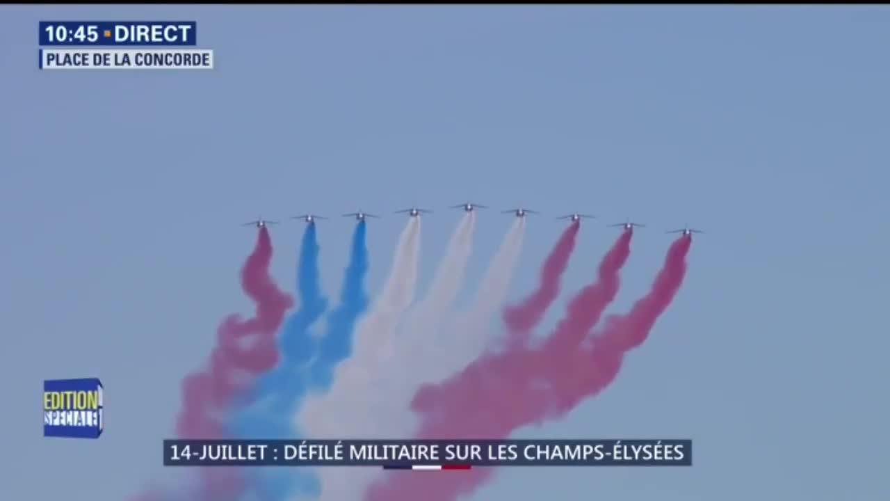 Video: Duyệt binh mừng Quốc khánh, chiến cơ Pháp vẽ nhầm cờ Nga